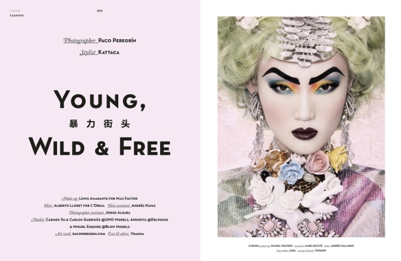 """Young, Wild & Free"". Vision Magazine. December 2012 issue."