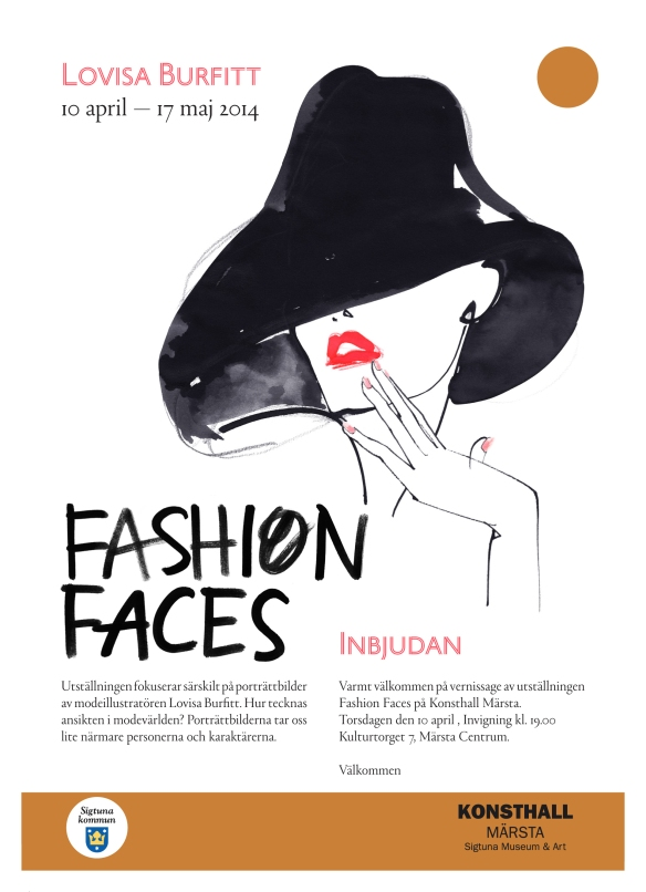 Inbjudan vernissage Fashion Faces-