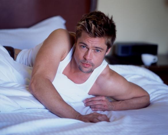 Brad Pitt in bed