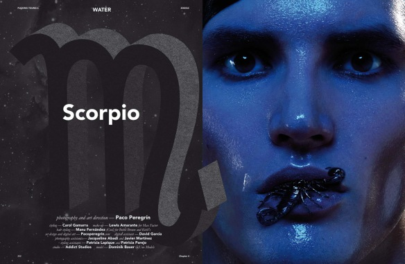 """Scorpio"". Fucking Young! Magazine. Zodiac, 6¼ Issue. 2015."